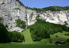 From the Lauterbrunnen Valley - to a waterfalls along the western limestone wall - canton of Bern
