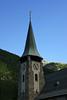 St. Maurice Catholic Church steeple - city of Zermatt - canton of Valais