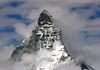 Western face and peak of the Matterhorn