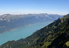 From Schynige Platte - down to the Brienzersee (Lake Brienz) - which extends about 9 mi. (14 km) in length, a width of 1.7 mi. (2.8 km), and a maximum depth 850 ft. (259 m) - canton of Bern