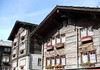 Stone-roofed homes in Zermatt - canton of Valais