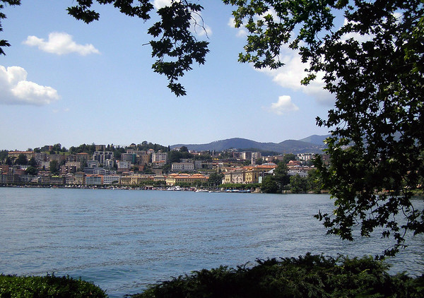 Across Lake Lugano - to the city of Lugano