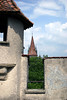 From the Mannliturm (Mannli Tower) turret - across to the spires of the Luegislandturm, Wachtturm, and  Seitturm - Lucern
