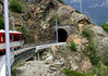 Train tunnel near the village of St. Niklaus - canton of Valais