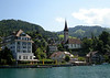 Protestant Church of Hilterfingen - a small village on the northwestern portion of the Thunersee (Lake Thun) - in the district of Thun, the canton of Bern