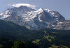 Schwarzmönch and Silberhorn, with the Silberhorn Gletscher (glacier) between - up to the clouds atop the western face of the Mönch, rising to 13,448 ft. (4,107 m) - canton of Bern