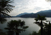 Beyond the fan palms - to sunset upon Lake Lugano