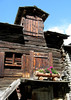Wooden and stone-roofed dwelling in Zermatt - canton of Valais