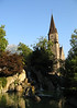 Across the Japanese Garden - to the Roman Catholic Church of the Holy Ghost - Interlaken - canton of Bern
