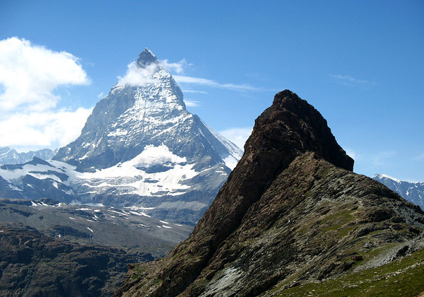 Across the peak of the Riffelberg - to the Matterhorn - canton of Valais
