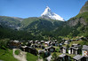 Beyond the southern end of Zermatt, and the Matter Valley - up to the iconic Matterhorn, rising 14,692 ft. (4,478 m)
