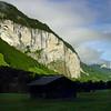 Rockface aboveLauterbrunnen