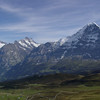 The Eiger and the road down to Grindelwald