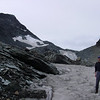 Kent standing on glacial ice