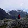 Le Glacier de Gietroz with Le Petit Combin in the distance