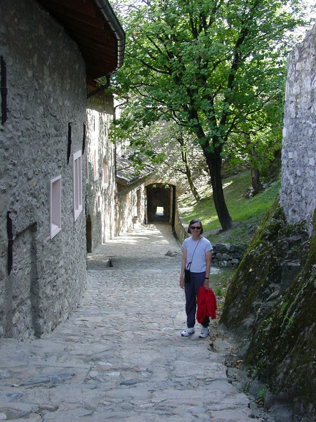 One of the walkways in the castle