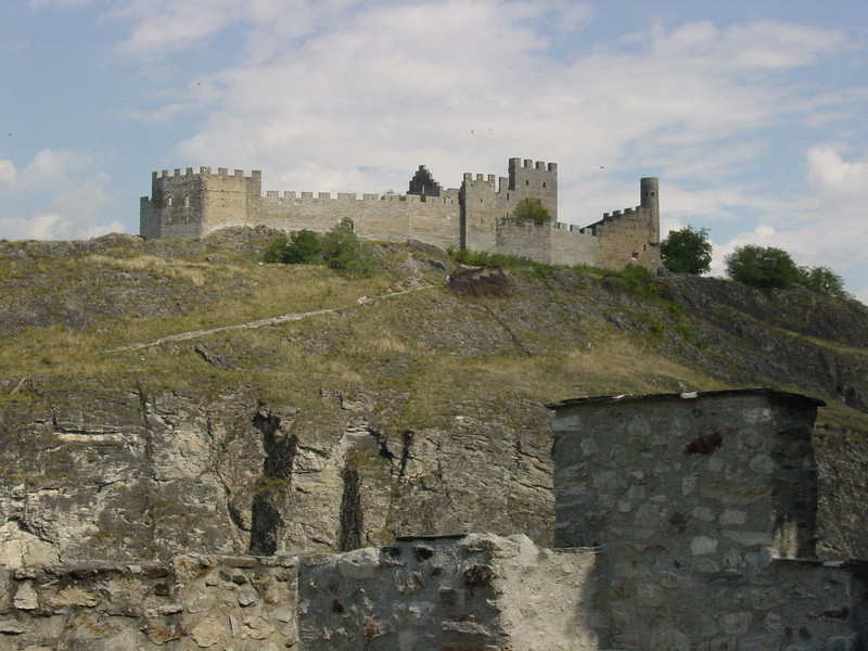 Remains of an old castle overlooking the town of Sion