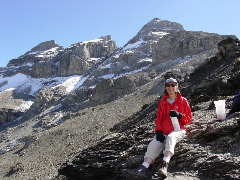 The pass above Rotstockhütte