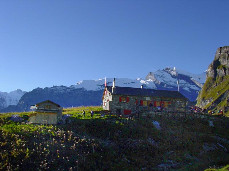 Morning at Rotstockhütte