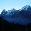 Early morning view from our room in Suppenalp