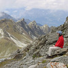 Enjoying the scenery above Weisshorn