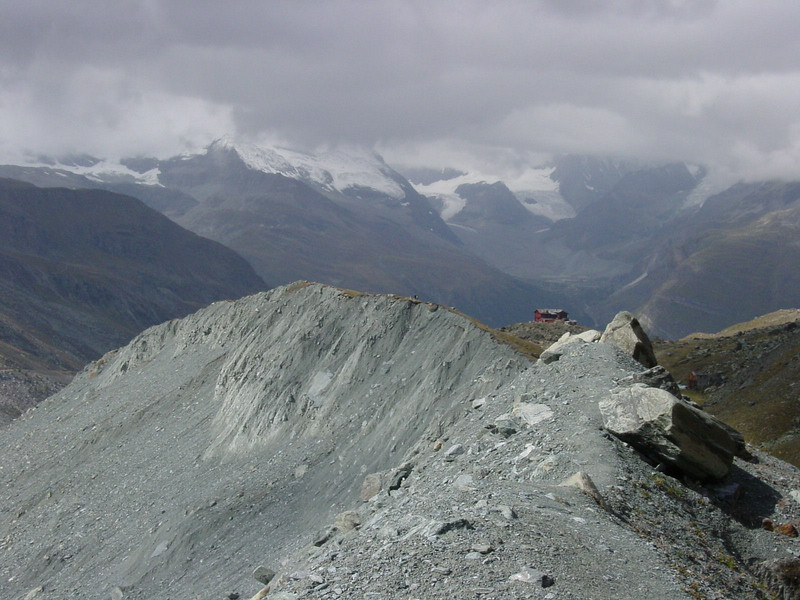 Desolate landscape above Zermatt