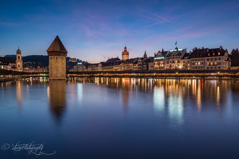 Abenddämmerung in Luzern, Switzerland 2014