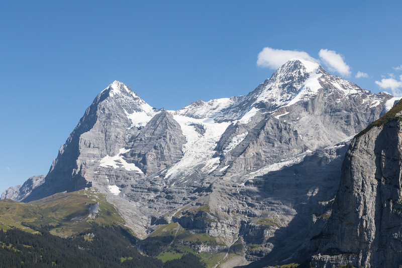 Eiger and Moench mountains in the Swiss Alps