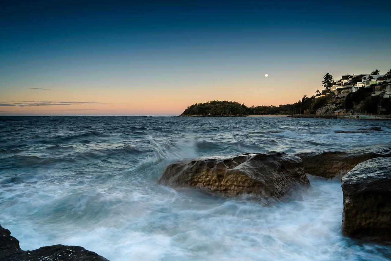 Moonrise over Shelly Beach