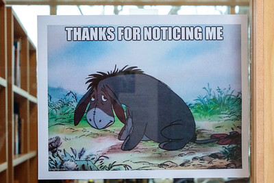 Eeyore. Rabbi Bressler's study door.