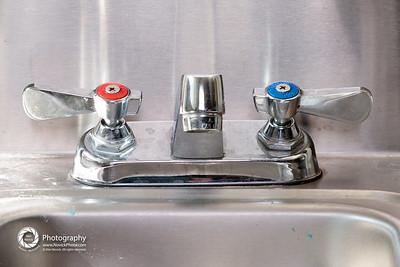 hand sink: kitchen