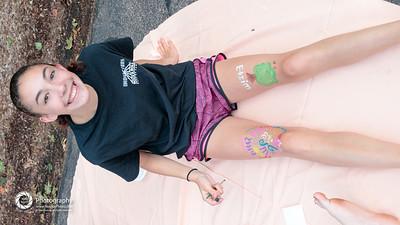 TBS Hotdog Shabbat: face painting...body painting...it's all good.