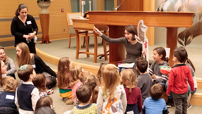Mayim: story time in the Sanctuary
