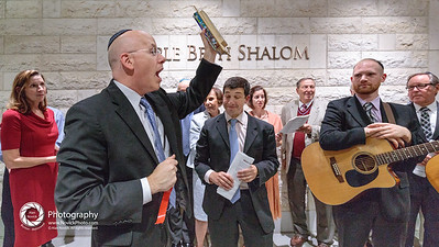 Saturday night, TBS Mikdash Dedication ceremony.Time to hang a mezuzah!