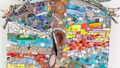 Mosaic artwork outside Sara Berk's Office.