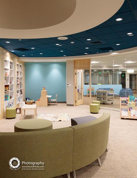 Children's Center Reading Room - below skylight