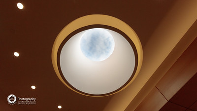 Skylight, looking up to the sky.