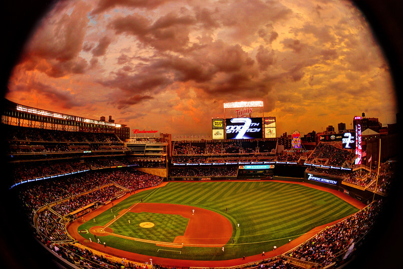 Sky on Fire at Target Field