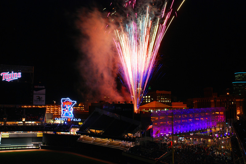 Fireworks at the New Twins Ballpark
