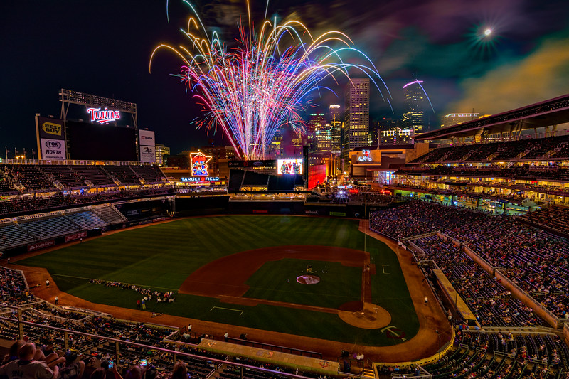 Friday Night Fireworks at Target Field-July 2017