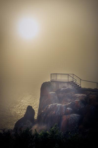 Sea Fog Mersey Bluff Lookout 1
