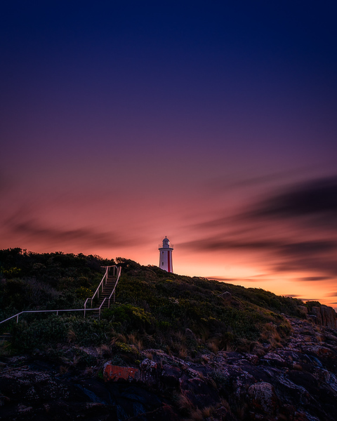 Mersey Bluff Lighthouse Sunset 1
