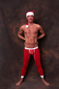 père Noël sexy | sexy santa in long johns