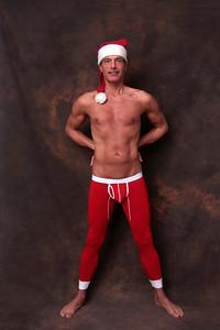 père Noël sexy | sexy santa in long johns