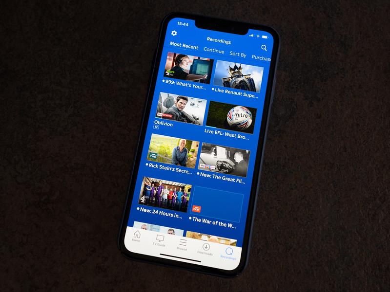 Sky Go App on iPhone
