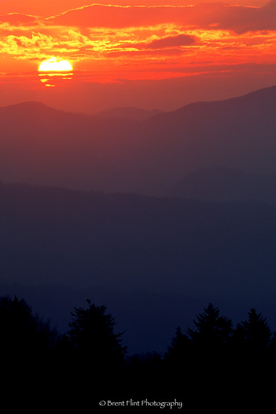 S.2627 - sunrise over the Smokies, Newfound Gap, Great Smoky Mountains National Park, TN.