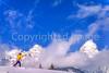Cross-country skier before Teton Mountain Range near Jackson, Wyoming - 3 - 72 ppi
