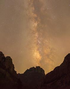 Milky Way and Casa Grande in Big Bend