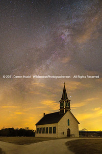 Milky Way Over the Old Rock Church