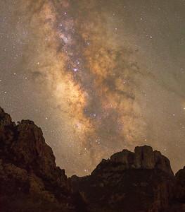 Milky Way over Casa Grande in Big Bend
